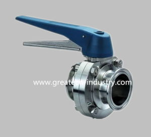 Stainless Steel Ss304 and Ss316L Gripper Handle Clamp Sanitary Butterfly Valve
