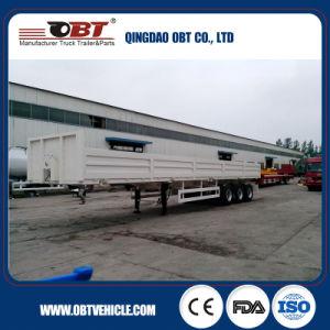 80 Ton Three Axle Sidewall Flatbed Semi Trailer Cargo Trailer pictures & photos