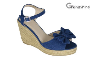 Women′s Espadrille Platform Wedge Sandals with Bow