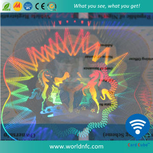 Hologram Laser Foil Overlay Laminated PVC Anti-Counterfeit Card pictures & photos
