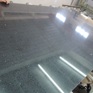 Black Mirror Artificilal Marble Quartz Stone Slabs pictures & photos