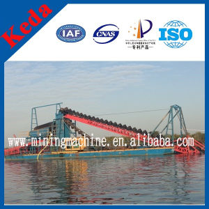 80m3/H Bucket Chain Diamond and Gold Dredger in Mali pictures & photos