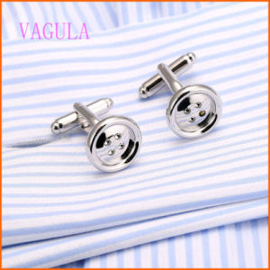 VAGULA 2015 Fashion Button Men′s Wedding Cuff Links pictures & photos