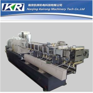 PE/PP+ CaCO3 Filler Masterbatch Co-Roating Twin Screw Extruder Machine pictures & photos