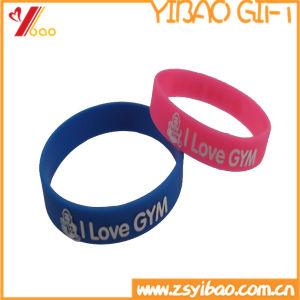 Custom Colorful Solid Silk Screen Silicone Wristband in China (YB-LY-WR-15) pictures & photos