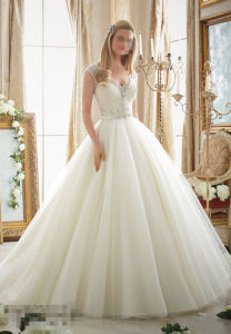 2016 off Shoulder A-Line Beaded Bridal Wedding Dresses 2875 pictures & photos