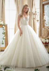 2016 off Shoulder A-Line Beaded Bridal Wedding Dresses 2875 pictures & photos