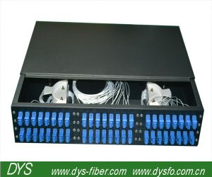 Slide Type 48ports Sc Simplex Fiber Optic Patch Panel pictures & photos