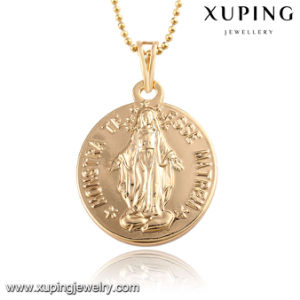 32589 Fashion 18k Gold-Plated Alloy Copper Words Imitation Jewelry Chain Pendant pictures & photos