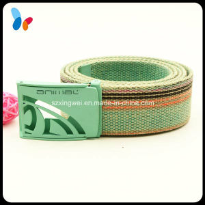 Design Fashion Woven Fabric Men Women Belts with Clip Buckle pictures & photos