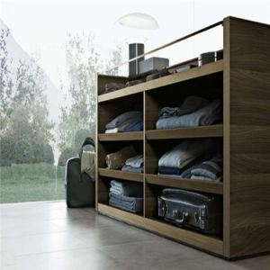 Linear Shaped Melamine MDF Wardrobe pictures & photos