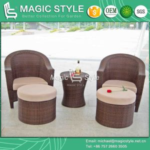 Synthetic Wicker Coffee Set Patio Rattan Wicker Coffee Sofa Outdoor Coffee Set pictures & photos