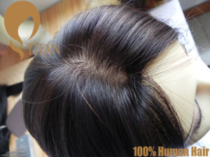 Wholesale Hand Tied 100% Remy Human Hairpiece with Factory Price