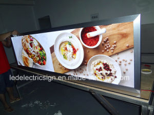 Fast Food Restaurant Magnetic LED Light Box Sign Menu Board pictures & photos