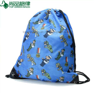 Durable Drawstring Backpack Shopping Bag with Cords Full Imprinting pictures & photos