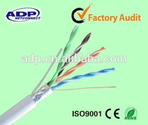 Solid Bare Copper Conductor Cat5e FTP LAN Cable pictures & photos