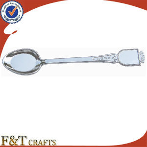 High Quality Promotion Blank Metal Silver Souvenir Spoon (FTSS2921A) pictures & photos