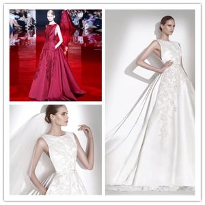 Red White Bridal Evening Gowns Beaded Prom Party Dresses Z213 pictures & photos