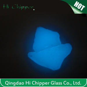 Sky Blue Glow Glass Rocks for Decoration pictures & photos