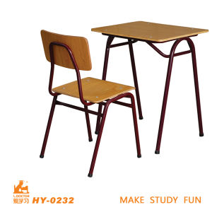 Students Metal Desk and Chair of Plywood for Education pictures & photos