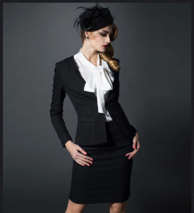 Made to Measure Fashion Stylish Office Lady Formal Suit Slim Fit Pencil Pants Pencil Skirt Suit L51643 pictures & photos