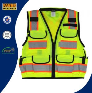 12 Pocket Style Hi Vis Reflective Tape Safety Vest