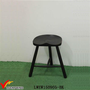 Black Hand Painted Wooden Bar Antique Decorative Stools pictures & photos