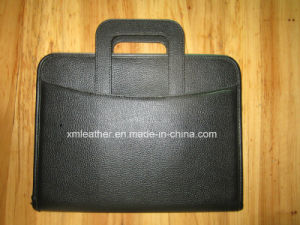 Business Black Leather Briefcase Portfolio with Handle pictures & photos