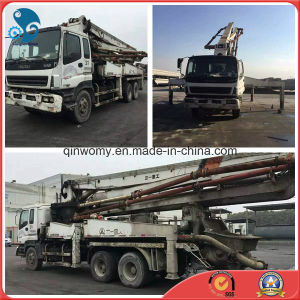 37m Used Original-White 8*4-LHD-Drive Isuzu Chassis Sany Pump Truck (Shanghai, China) pictures & photos