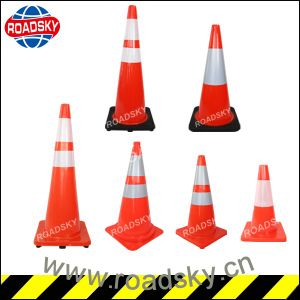 "Soft 36"" 70cm Colored PVC Traffic Cone pictures & photos"
