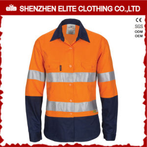 Wholesale 100% Cotton Orange Safety Shirts Reflective Tape pictures & photos