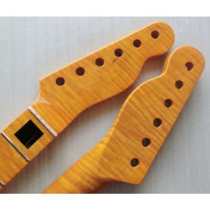 One Piece Flame Maple Tele Guitar Neck with Block Inlay pictures & photos