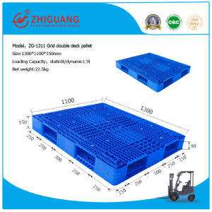 1300*1100*150mm Plastic Tray Double Sides Virgin HDPE Plastic Pallet Static 6t Nest Plastic Pallet for Warehouse Storage Products pictures & photos