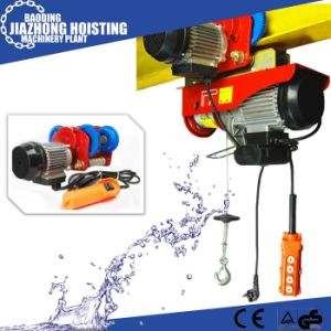 220V 50Hz Single Phase Mini Wire Rope Electric Hoist 150kg pictures & photos