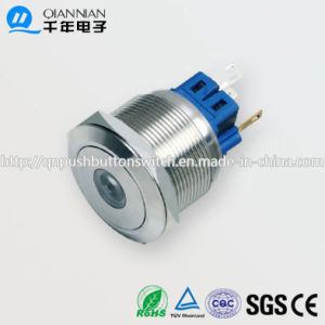 25mm 1no Nc/2no 2nc Resetable Self-Locking Flat DOT Illuminated IP67 Ik10 Push Button Switch pictures & photos