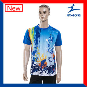 Healong Knitted Sublimated Wholesale Blank T Shirts pictures & photos
