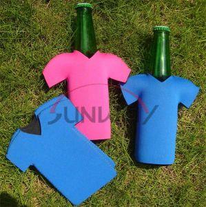 Neoprene Bottle Koozie, Beer Bottle Cooler in T-Shirt Shape (BC0046) pictures & photos