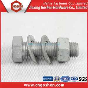 Gr8.8 HDG DIN933 Full Thread Hex Head Bolts&Nuts DIN934 pictures & photos