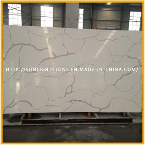 Artificial Calacatta Gold Quartz Stone Slab for Kitchen Countertop pictures & photos