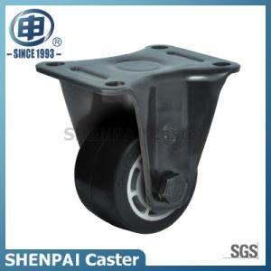 "3""Aluminium Core Rubber Fixed Caster Wheel pictures & photos"