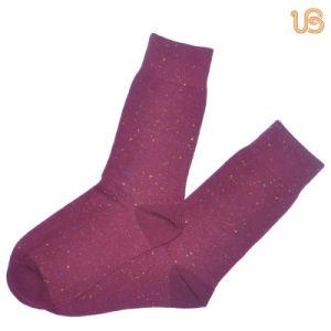 Men′s Purple Cotton Sock pictures & photos