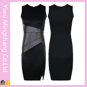 Fast Delivery Party Evening Splice Slim Pencil Dress pictures & photos