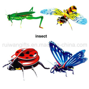 Wholesale Insect 3D Paper Puzzle Toy for Kids Puzzle pictures & photos