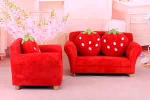 Strawberry Fabric Kids Sofa /Chilren Furniture (SXBB-281-3) pictures & photos