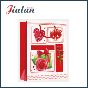 Custom Made Glossy Lamination Valentine′s Day Gift Paper Bag pictures & photos