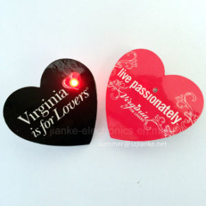 Custom Flash Light LED Blinking Badges with Logo Print (3161) pictures & photos