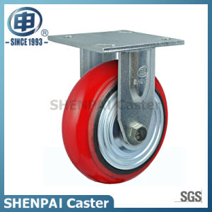 Heavy Duty Iron Core PU Rigid Caster Wheel (arc) pictures & photos