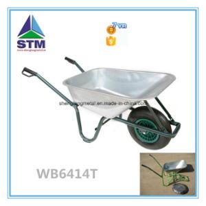 Two Wheel Galvanized Wheelbarrow pictures & photos