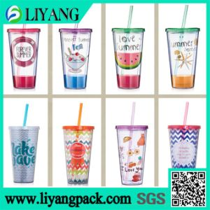 Printing on The Juice Cup, Heat Transfer Film for Plastic Cup pictures & photos