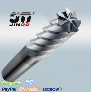 High Quality 6 Flute Coated Tungsten Flat Carbide End Mill pictures & photos